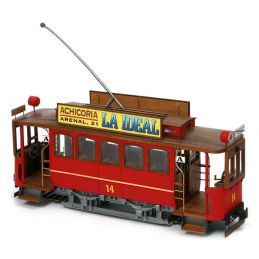 Occre Cibeles Travia Cangrejo Madrid Tram Detailed Wood and Metal Model Kit