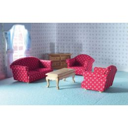1:12 Scale Sitting Room Set (5 Pcs)