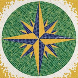 Aedes Ars Compass Rose Mosaics Kit