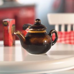 Bettys Brown Teapot 12th Scale for Dolls House