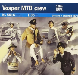 Italeri Seven Vosper Crew Figures and Accessories Plastic Model Kits