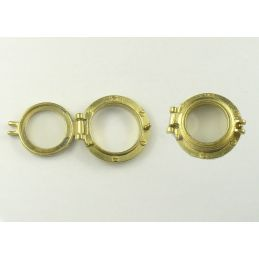 Brass Effect Portholes with Caps Packs of 10 for Scale Model Ship Kits