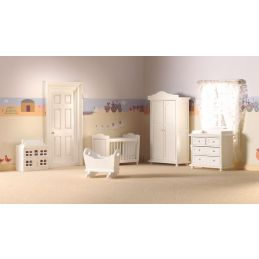 12th Scale Traditional Nursery Set Five Pieces for Dolls Houses