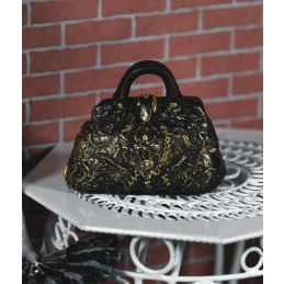 Black and Gold Carpet Bag
