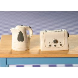 Modern Kettle and Toaster Set