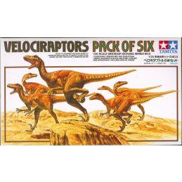 Tamiya Velociraptors Pack of 6 Dinosaur Diorama Model Kit