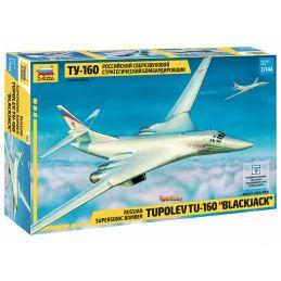 Zvezda Tupolev TU-160 Blackjack Bomber 1:144 Scale Model Kit