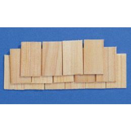 Wooden Roof Tiles 1:12 Scale for Dolls House Pack of 100