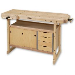 Sjobergs Nordic Plus 1450 Work Bench with Cupboards and Drawers