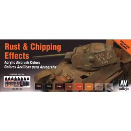 Vallejo Model Air Rust & Chipping Effects Paint Set