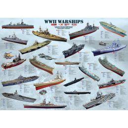 WWII Warships 1000 Piece Jigsaw
