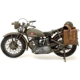 Italeri Triumph 3HW 1:9 Scale Military Solo Motorcycle Kit - Starter Paint Pack 5 x 17ml Pots