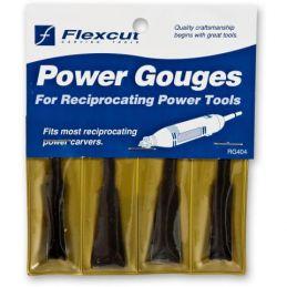 Flexcut 4 Piece Power Carving Roughing Gouge Set