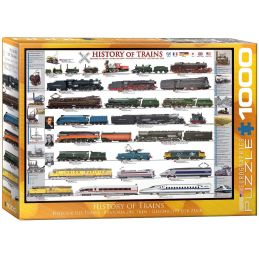 Eurographics History of Trains 1000 Piece Jigsaw