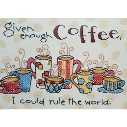 Cross Stitch - Enough Coffee
