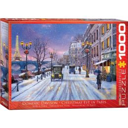 Eurographics Christmas Eve in Paris 1000 Piece Jigsaw
