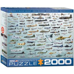 Eurographics Evolution of Military Aircraft 2000 Piece Jigsaw