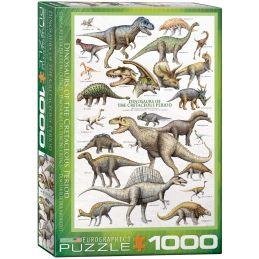 Eurographics Dinosaurs of the Cretaceous Period 1000 Piece Jigsaw