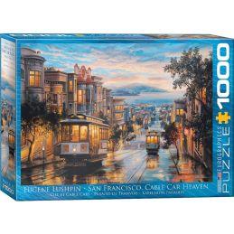 Eurographics San Francisco Cable Car Heaven 1000 Piece Jigsaw
