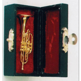 Brass Cornet with Black Case