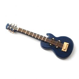 Blue Gibson Electric Guitar