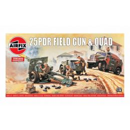 Airfix 25pdr  Field Gun 1:76 Scale Plastic Model Kit