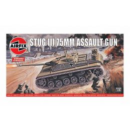 Airfix Stug III 75mm Assault Gun 1:76 Scale Plastic Model Kit