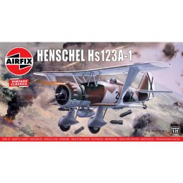Airfix 1/72 Scale Henschel Hs123A-1 Plastic Model Kit