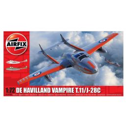 Airfix deHavilland Vampire T.11 / J-28C 1:72 Scale Plastic Model Kit