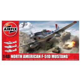 Airfix North American F51D Mustang  1:48 Scale Plastic Model Kit