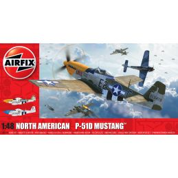 Airfix North American P51-D Mustang (Filletless Tails) 1:48 Scale