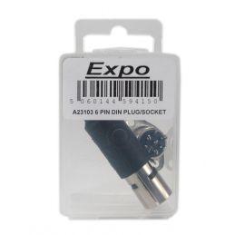 Expo 6 Pin DIN Plug and Socket Set