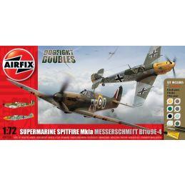 Airfix Spitfire MkIa and Messerschmitt Bf109E4 Dogfight Doubles