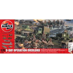 Airfix D-Day 75th Anniversary Operation Overlord Gift Set 1:76 Scale Plastic Model Kit