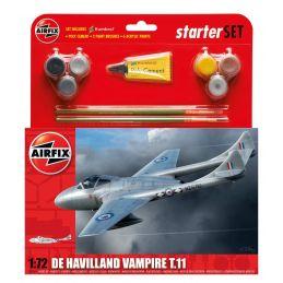 Airfix Medium Starter Set de Havilland Vampire T.11