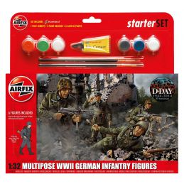 Airfix WWII German Infantry Multipose Starter Set