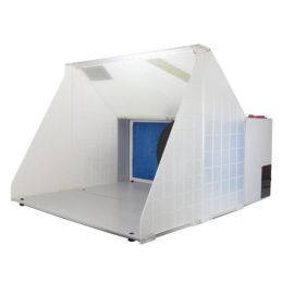 Portable Airbrush Spray Booth with Turntable and Extractor Fan