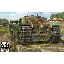 AFV Club Churchill MK.IV Avre with Fascine Carrier Frame 1:35 Scale Plastic Model Kit - Starter Paint Pack (7 x 17ml Pots)