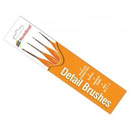 Humbrol Detail Brush Pack Sizes 00,0,1,2