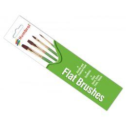 Humbrol Flat Brush Pack Sizes 3,5,7,10mm