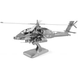 Metal Earth AH-64 Apache Helicopter 3D Laser Cut Model