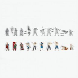 Artesania Latina 1:65 10 Die Cast Crew Figurines