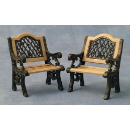 Pair of Garden Iron Chairs 1 12 Scale for Dolls House