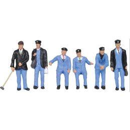 1950s Train Crew Figures for Model Railway