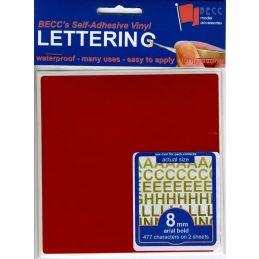 Vinyl Lettering Gloss Red - 3mm