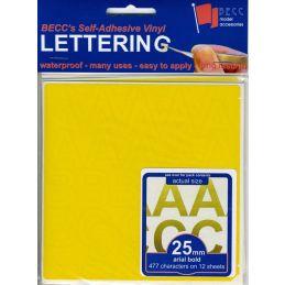 Vinyl Lettering Gloss Yellow - 3mm