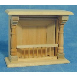 Bare Wood Fireplace
