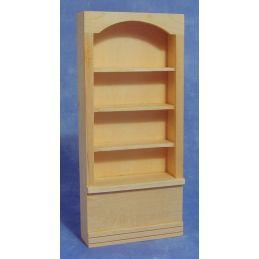 Bare Wood Single Shop Shelf Unit