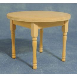 Bare Wood Round Table