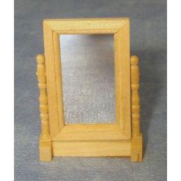 Bare Wood Swivel Mirror